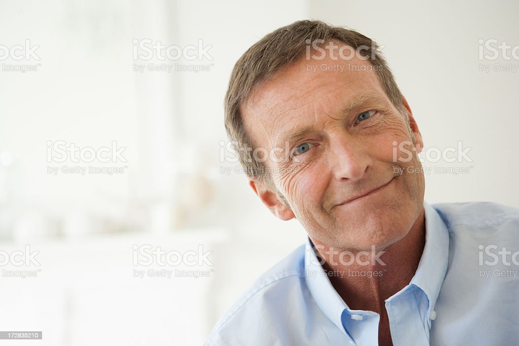 Mature man, portrait stock photo