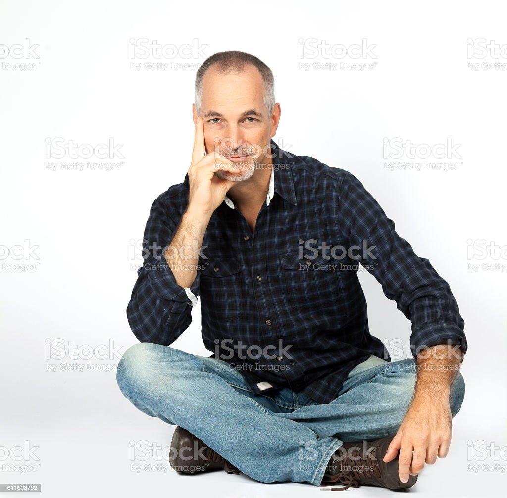 portrait homme d'âge mûr - Photo