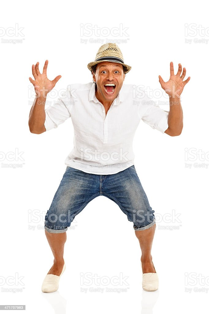 Mature man scaring you royalty-free stock photo