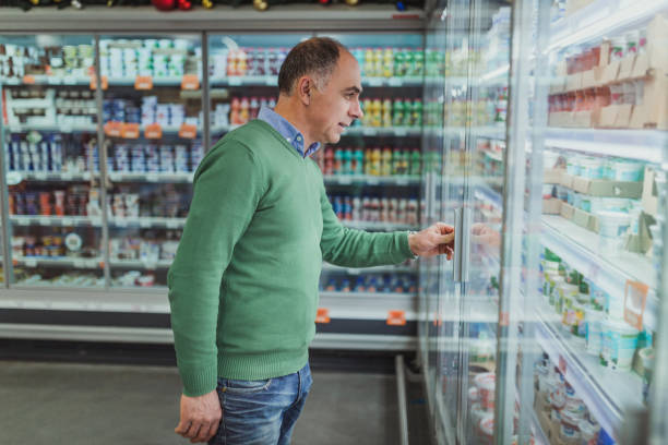 Best Single Middle Age Man Grocery Shopping Stock Photos