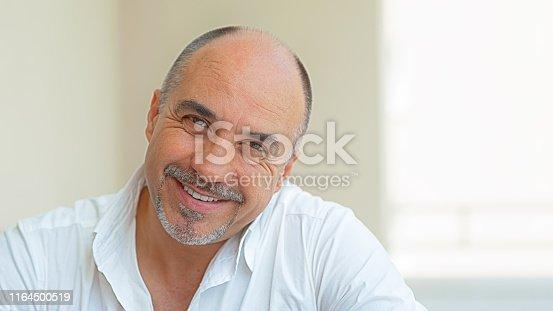 464621546 istock photo Mature Man Smiling and looking at camera 1164500519