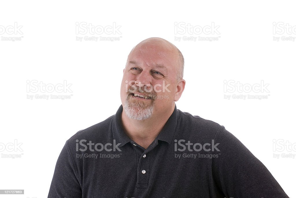 Mature Man Smiling royalty-free stock photo
