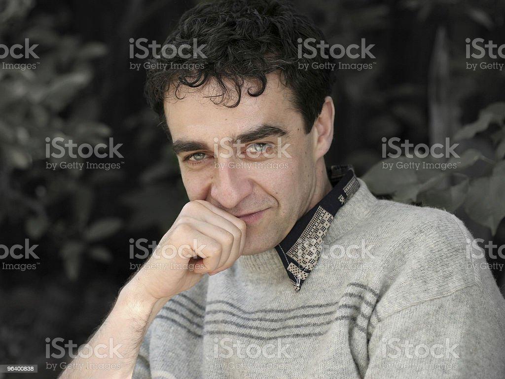 Mature man smiling - Royalty-free Adult Stock Photo