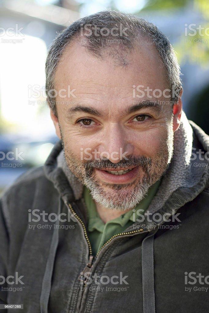 Mature man smiling royalty-free stock photo