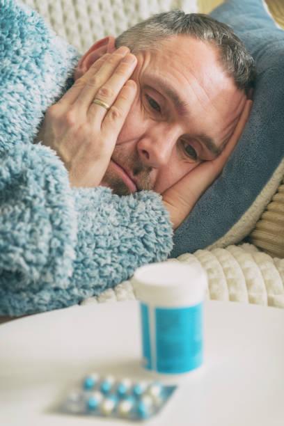 Reifer Mann, der an Depressionen leidet – Foto