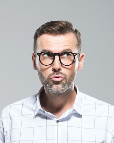 Reifer Mann Eine Idee Stockfoto und mehr Bilder von Betrachtung