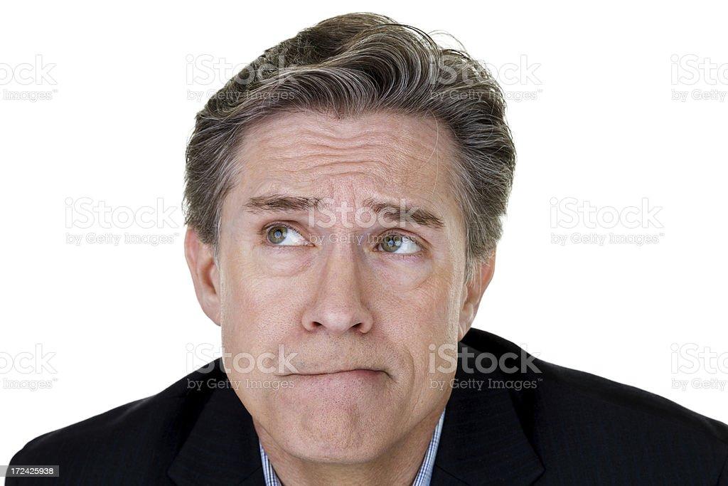 Mature man thinking royalty-free stock photo