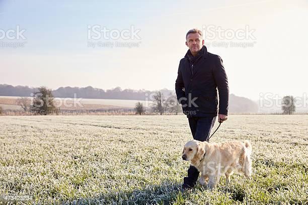 Mature man walking dog in frosty landscape picture id473423234?b=1&k=6&m=473423234&s=612x612&h=ocxj 8ogtfhukoa7lobi0o3em1rj vefm0rozin7cxk=