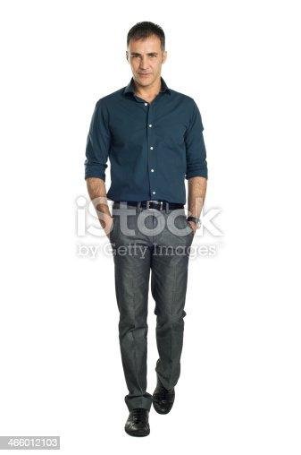 istock Mature Man Walking 466012103