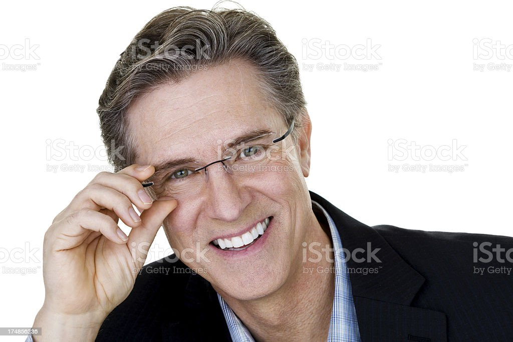 Mature man wearing glasses royalty-free stock photo