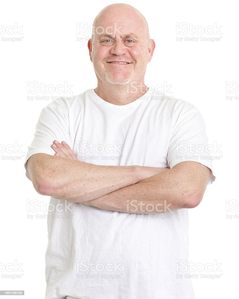 Mature Man With Arms Crossed royalty-free stock photo