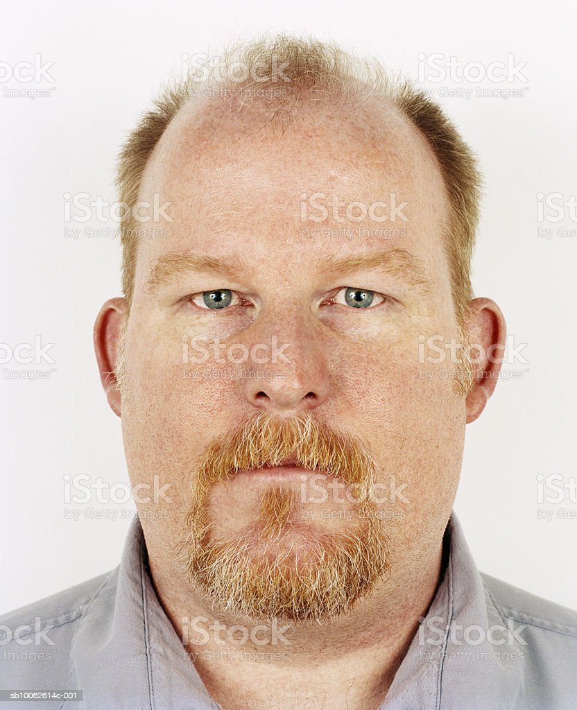 Mature man with beard, portrait, close-up royalty free stockfoto