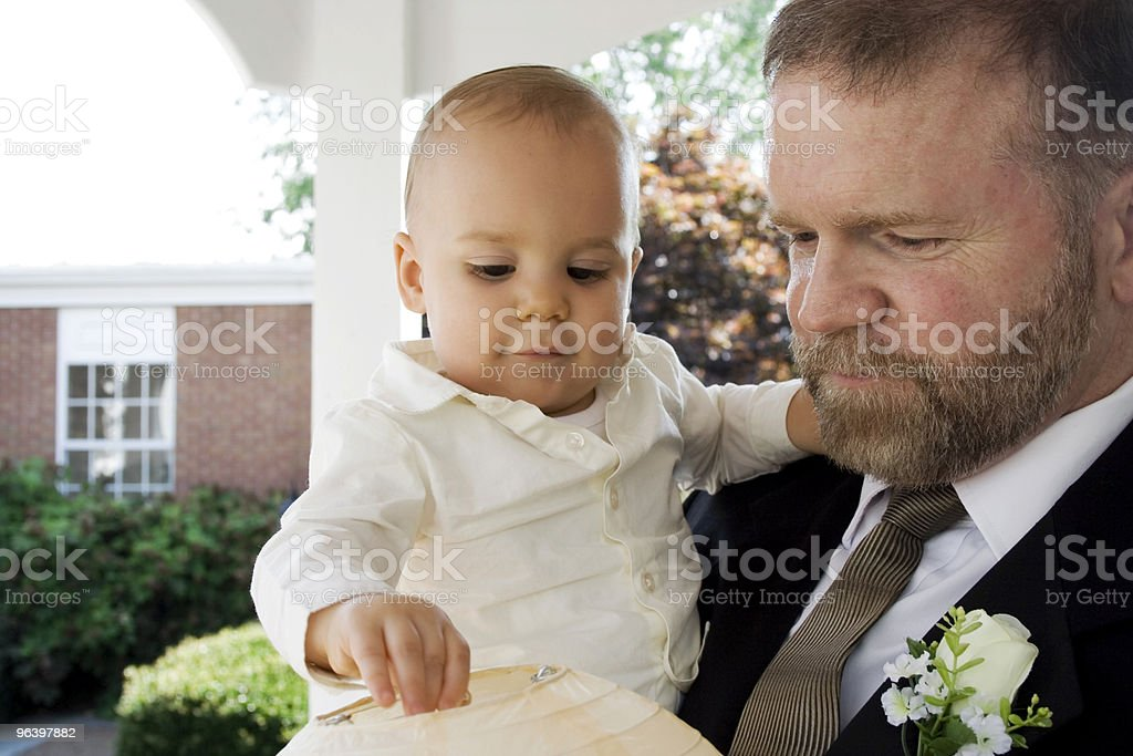 Mature man with grandson - Royalty-free 12-17 Months Stock Photo