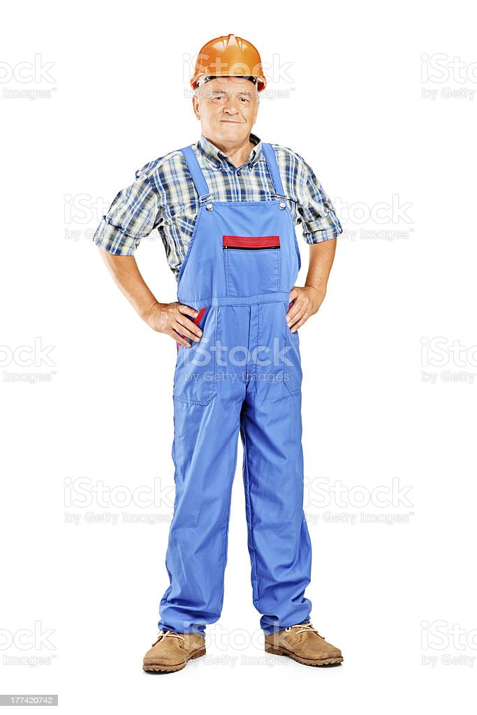 Mature manual worker stock photo