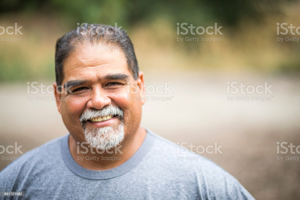 Mature Mexican Man Portrait stock photo