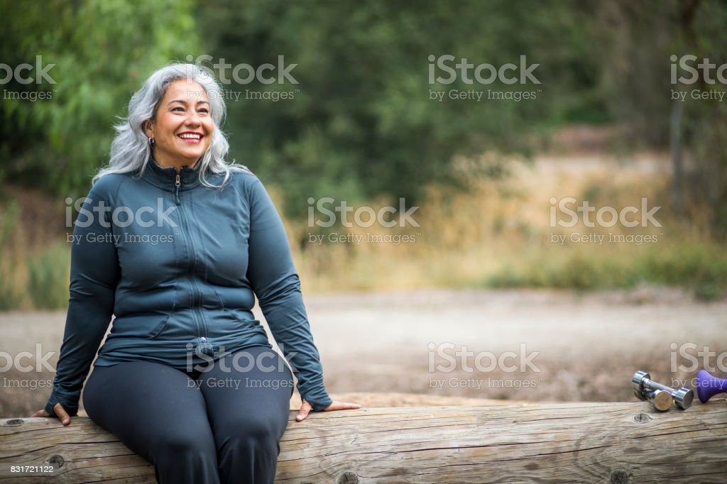 Mature Mexican Woman Stock Photo