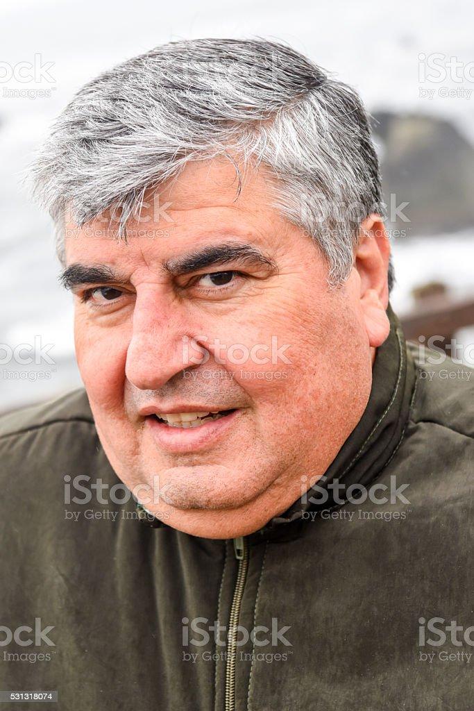 Mature Overweight Man stock photo