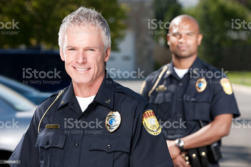 Mature Police Officer Portrait stock photo