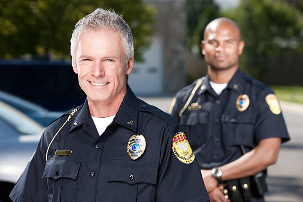 Ältere Polizist Porträt – Foto