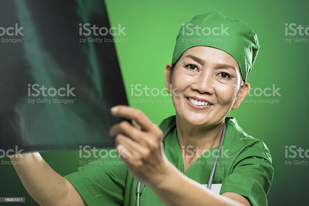 Mature radiologist royalty-free stock photo