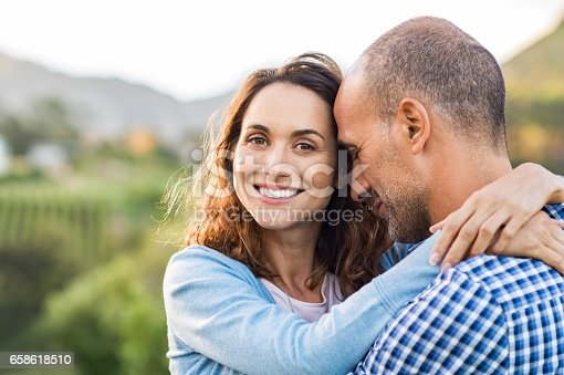 istock Mature romantic couple 658618510