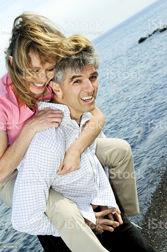 Mature romantic couple royalty-free stock photo