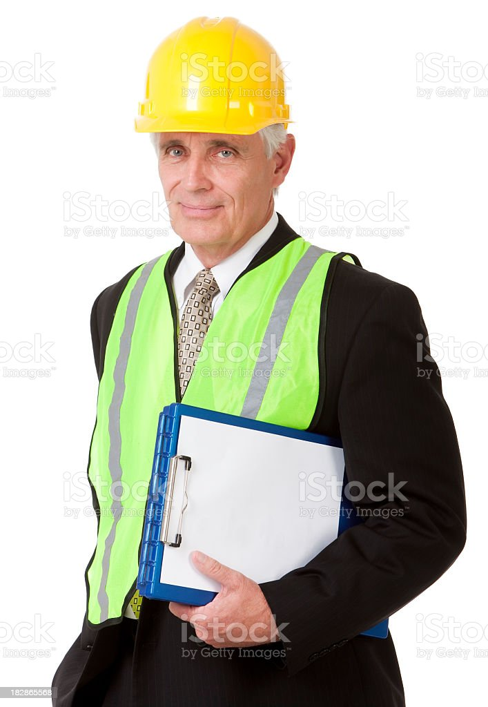 Mature Safety Engineer royalty-free stock photo