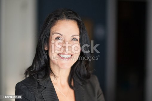 625010932istockphoto Mature Spanish Businesswoman Smiling At The Camera. At The Office 1132834349