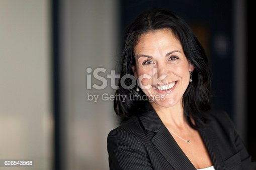 625010932istockphoto Mature Spanish Businesswoman Smiling At The Camera. At The Office. 626543568