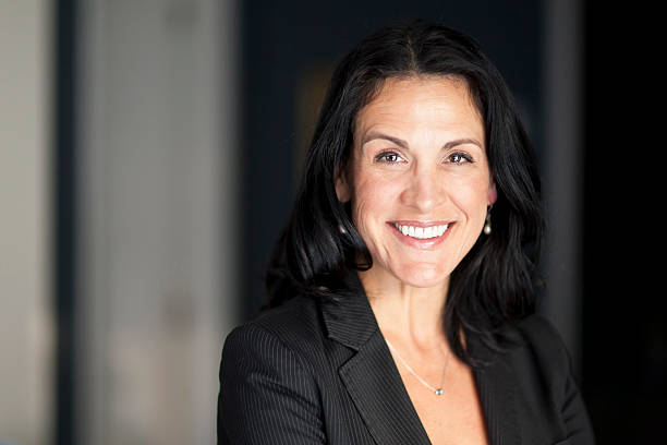 Mature Spanish Businesswoman Smiling At The Camera. – Foto