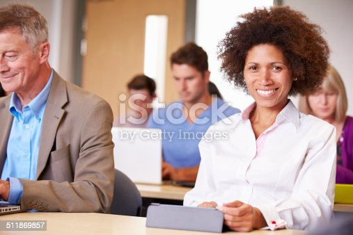 istock Mature Students In Further Education Class 511869857