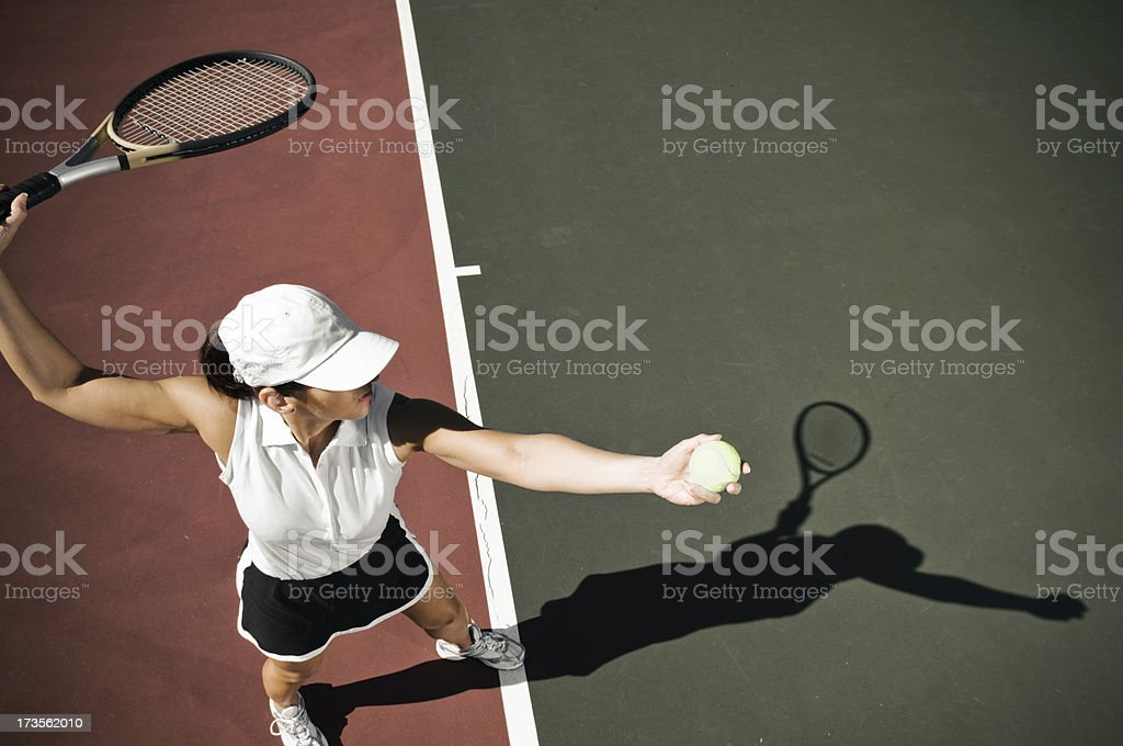 mature tennis player royalty-free stock photo