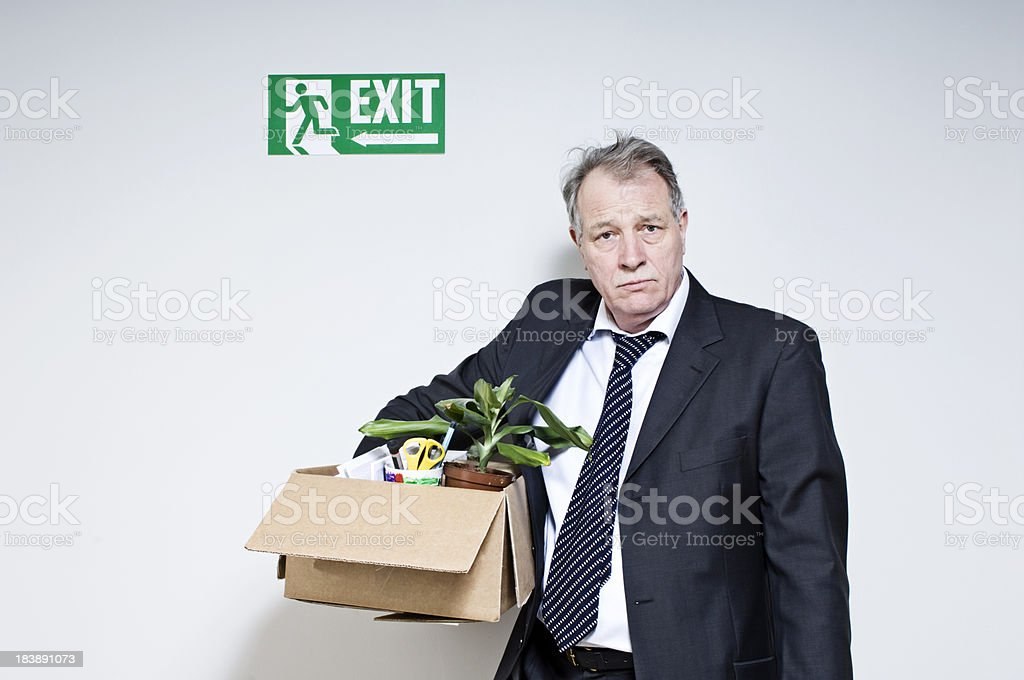 Mature White Collar Male Just Been Fired stock photo