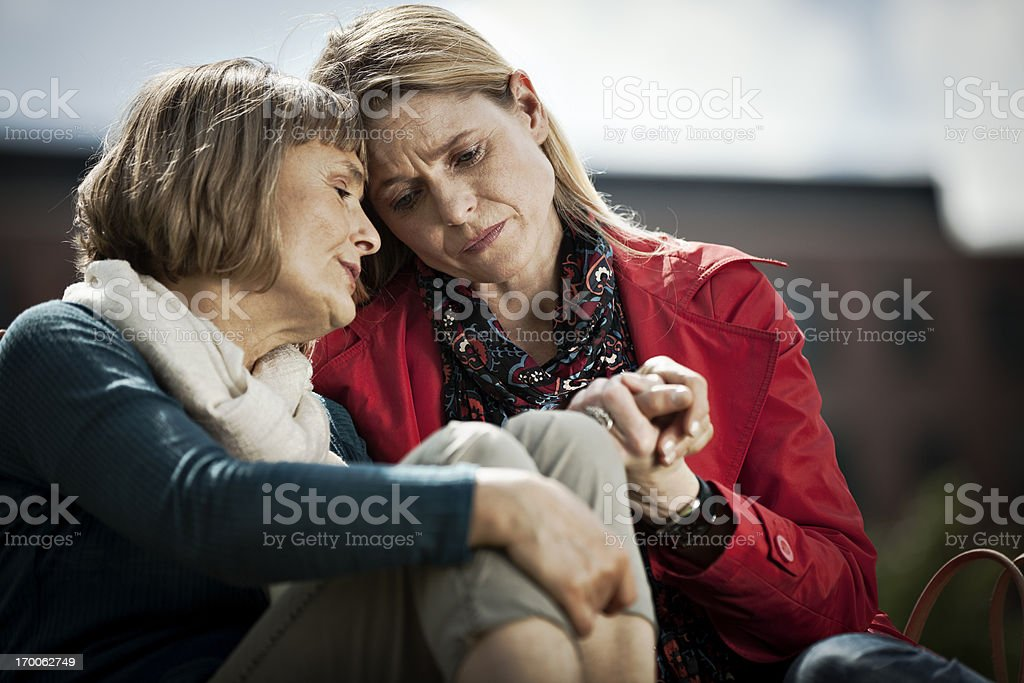 Mature Woman And Her Daughter stock photo