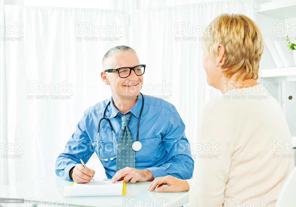 Mature Woman At Doctors Office. royalty-free stock photo
