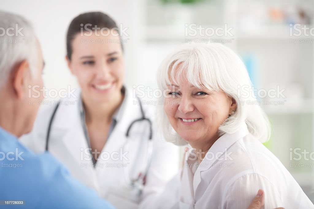 Mature woman at dosctor's office. royalty-free stock photo