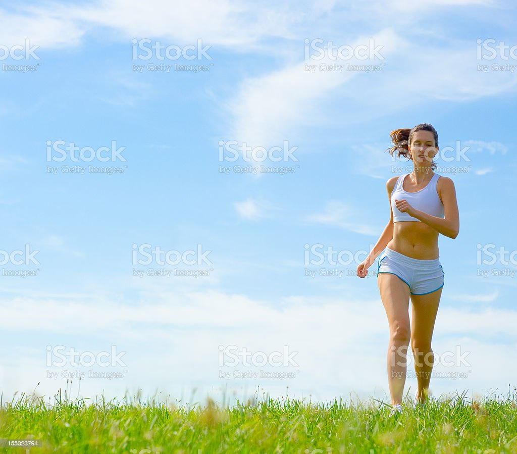 Mature Woman Athlete royalty-free stock photo
