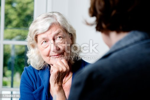 istock Mature Woman Counsellor 175484116