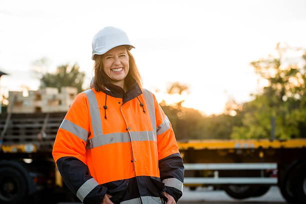 Mature woman - engineer portrait – Foto