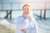 istock Mature woman enjoying the healthy life style 1181516238