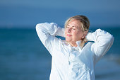 istock Mature woman enjoying the healthy life style 1185985752