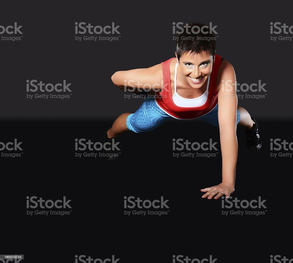Mature woman exercising royalty-free stock photo