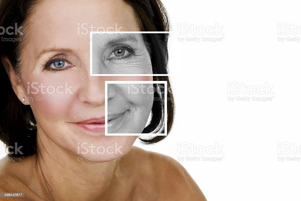 Mature woman for a beauty concept stock photo