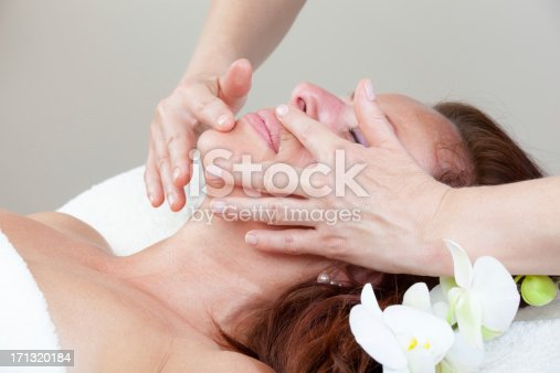 istock Mature Woman having relaxing massage 171320184