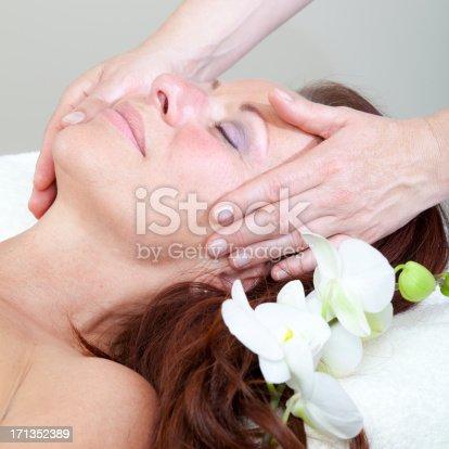 istock Mature Woman having relaxing massage 171352389