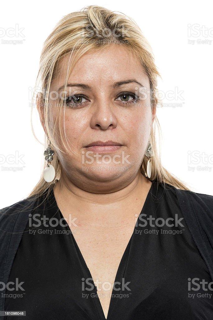 Mature woman headshot (real people) stock photo