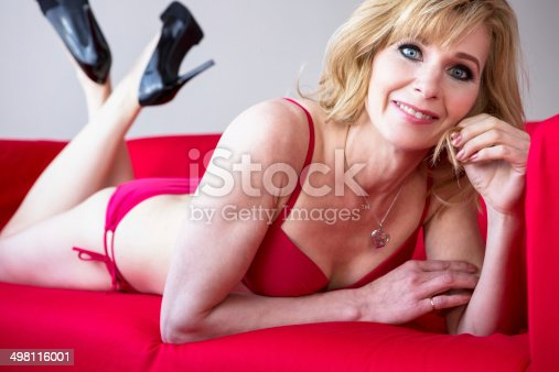 Older women in lingerie
