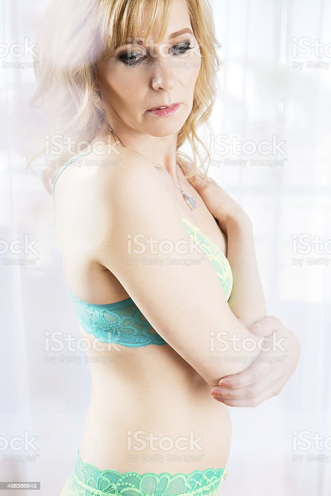 good out x sale retailer biggest discount Mature Woman In Lingerie Stock Photo - Download Image Now ...