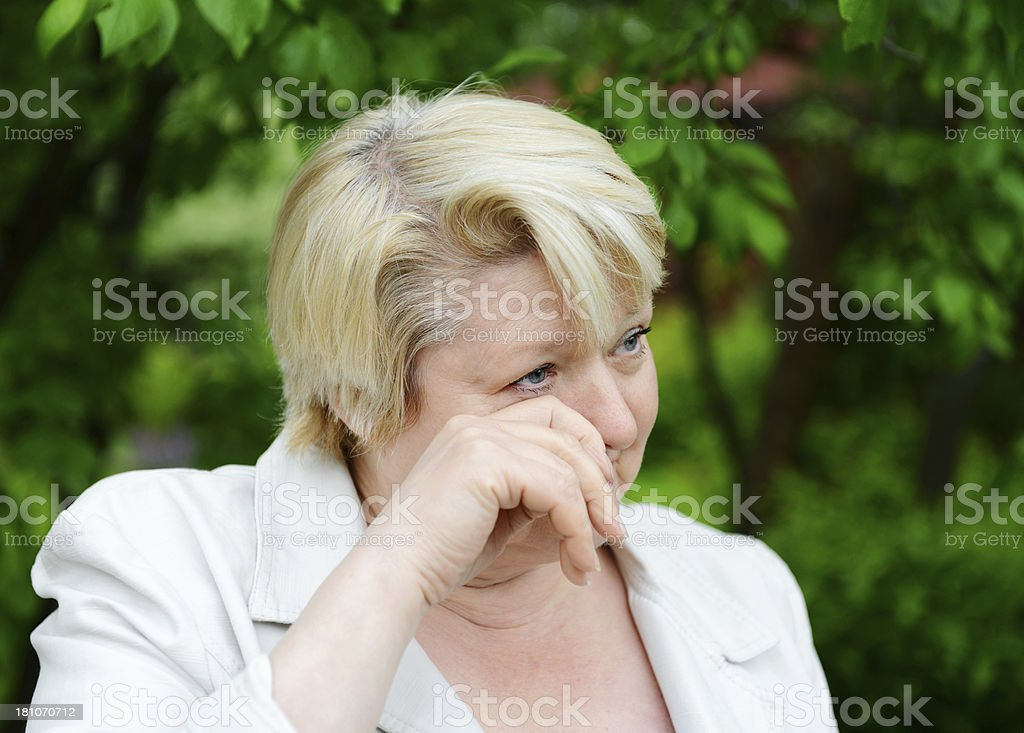 mature woman in nature royalty-free stock photo