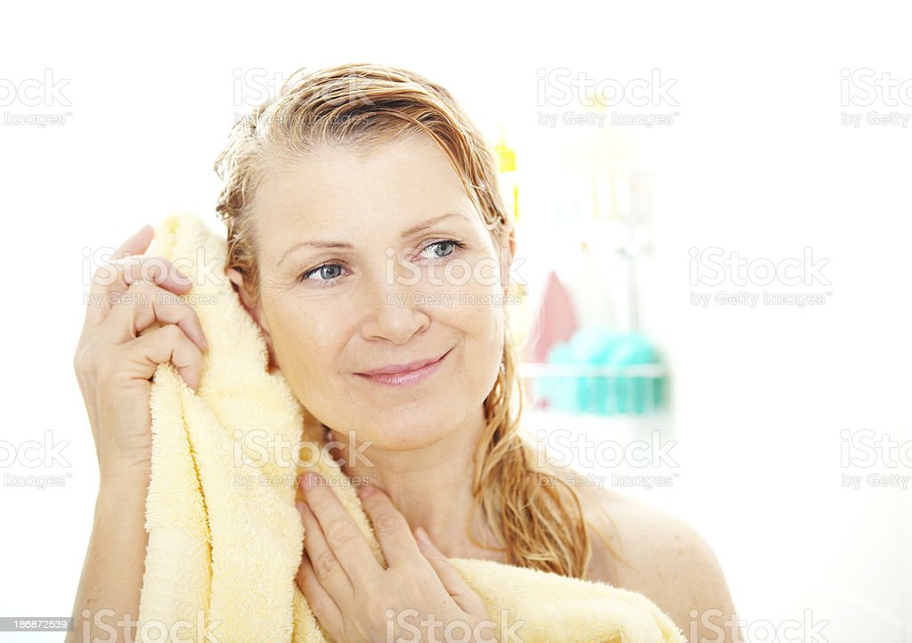Mature shower facial
